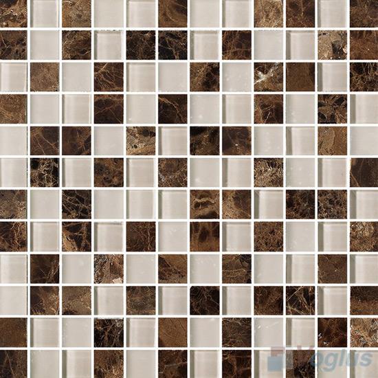 1x1 Glass Marble Mixed Mosaic Tiles VB-GSB86