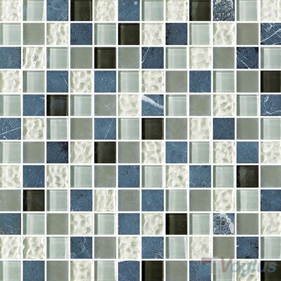1x1 Glass Marble Mixed Mosaic Tiles VB-GSB87