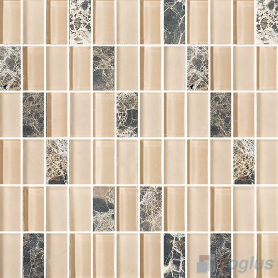 1x2 Glass Stone Mixed Mosaic VB-GSD92