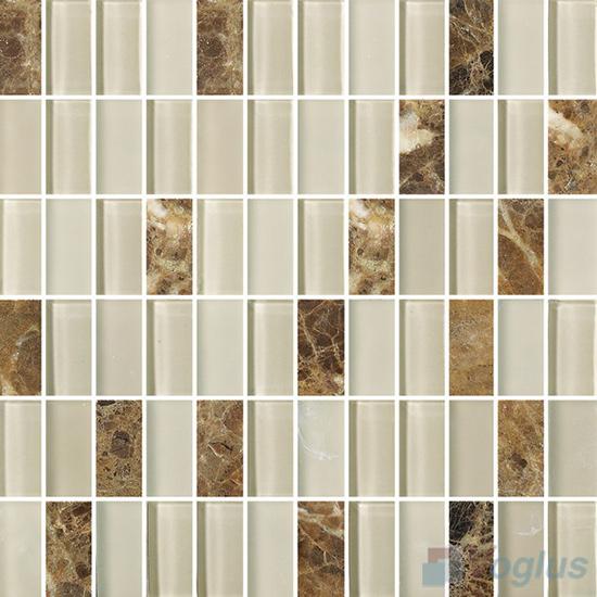 1x2 Glass Stone Mixed Mosaic VB-GSD93