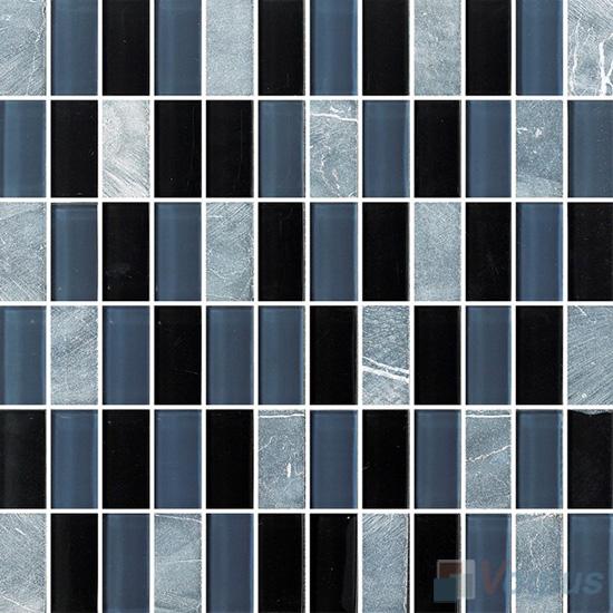 1x2 Glass Stone Mixed Mosaic VB-GSD94