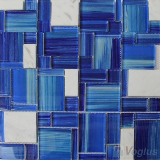 Blue Way Magic Miscellaneous Glass Stone Mix Mosaic Tile VB-GST88