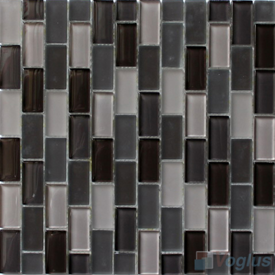 Chocolate Acchor Crystal Glass Mosaic Tiles VG-CYV88