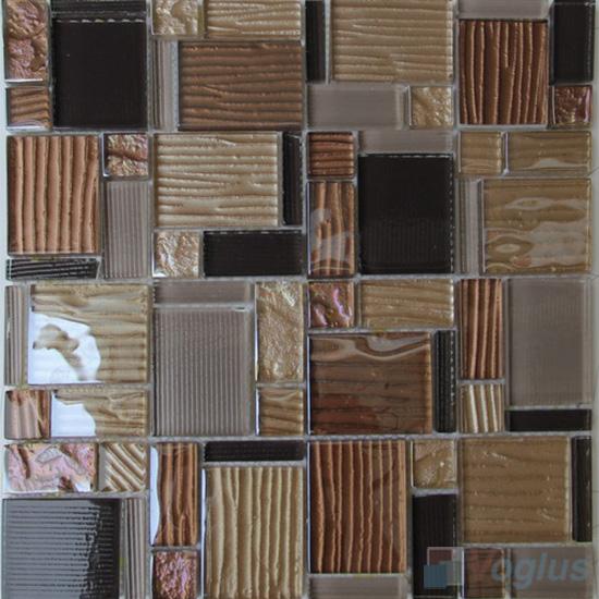 Chocolate Plate Magic Miscellaneous Glass Stone Mix Mosaic Tile VB-GST90