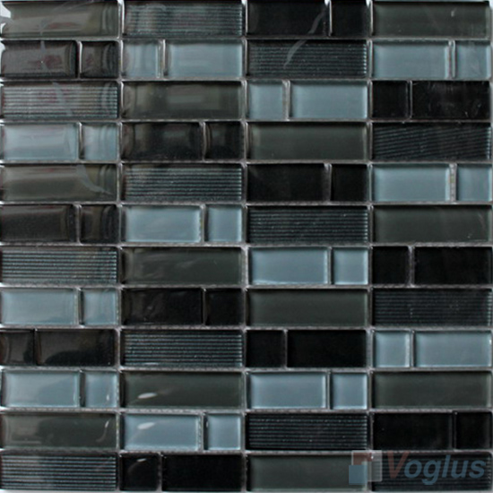 Dark Gray Helicopter Hand Painted Glass Mosaic VG-HPV91