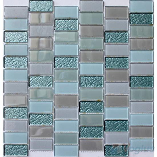 Elegant Green 1x2 Interstream Crystal Glass Mosaic VG-CYW99