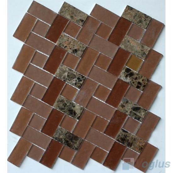 Festival Pinwheel Glass Tile Mix Stone Mosaic VB-GSW96
