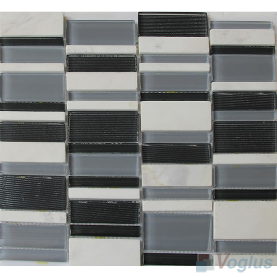 Frost Farm Skyline Stream Tile Glass Stone Mosaic VB-GSV91