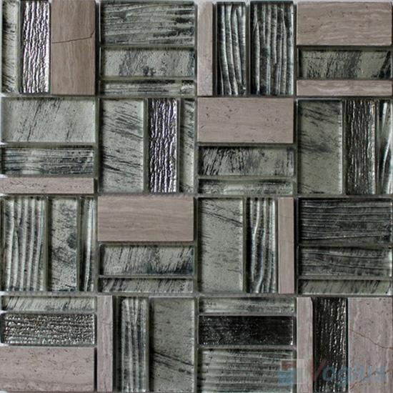 Gravity Magic Miscellaneous Glass Stone Mix Mosaic Tile VB-GST98