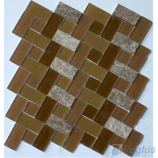 Lindosan Pinwheel Glass Tile Mix Stone Mosaic VB-GSW97