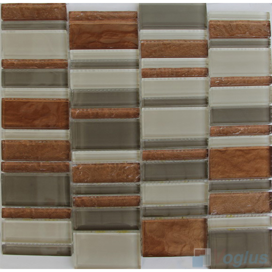 Melandy Skyline Stream Tile Glass Stone Mosaic VB-GSV92