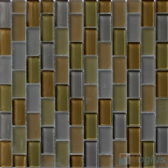 Olive Acchor Crystal Glass Mosaic Tiles VG-CYV91
