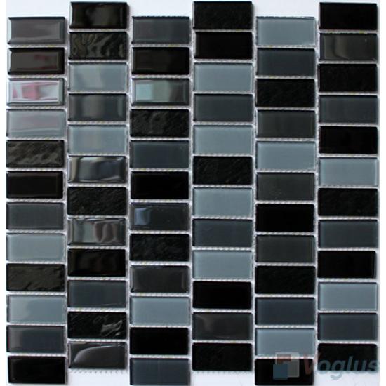 Pinline 1x2 Interstream Crystal Glass Mosaic VG-CYW93
