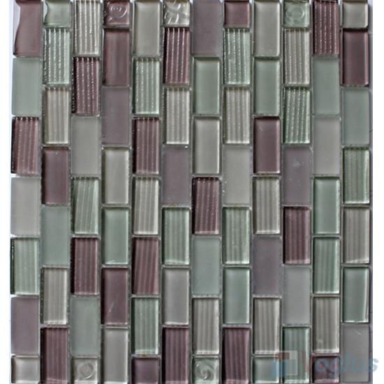 Plum Acchor Crystal Glass Mosaic Tiles VG-CYV94