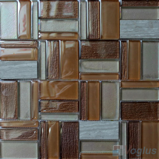 Porfolio Magic Miscellaneous Glass Stone Mix Mosaic Tile VB-GST97