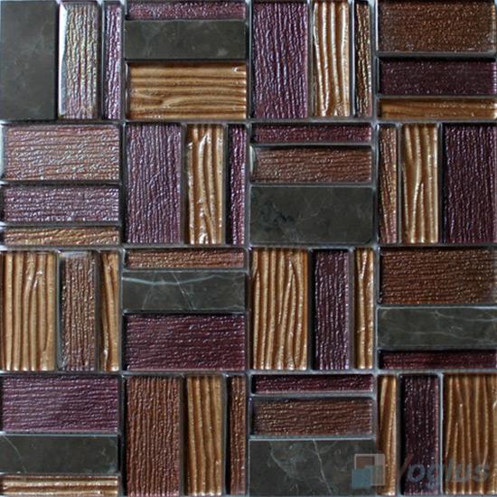 Purple Potato Magic Miscellaneous Glass Stone Mix Mosaic Tile VB-GST96
