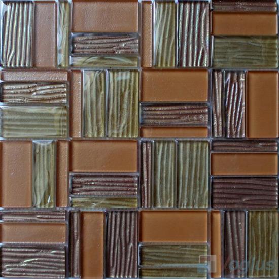 Rose Gold Magic Miscellaneous Glass Stone Mix Mosaic Tile VB-GST95
