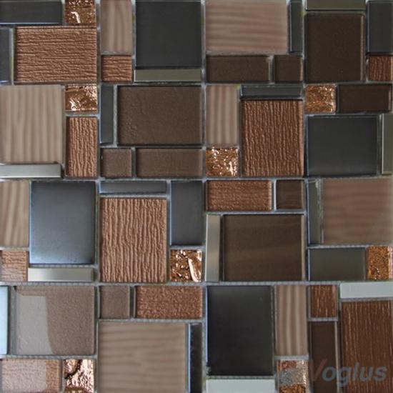 Rose Maze Magic Miscellaneous Glass Stone Mix Mosaic Tile VB-GST89