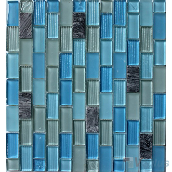 Sky Blue Acchor Crystal Glass Mosaic Tiles VG-CYV99