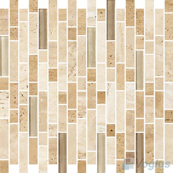 Strip Stone Glass Mosaic Tiles VB-GSN92
