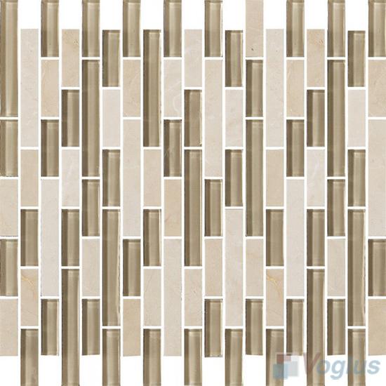Strip Stone Glass Mosaic Tiles VB-GSN93