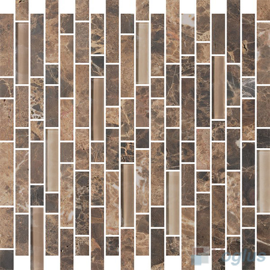 Strip Stone Glass Mosaic Tiles VB-GSN94