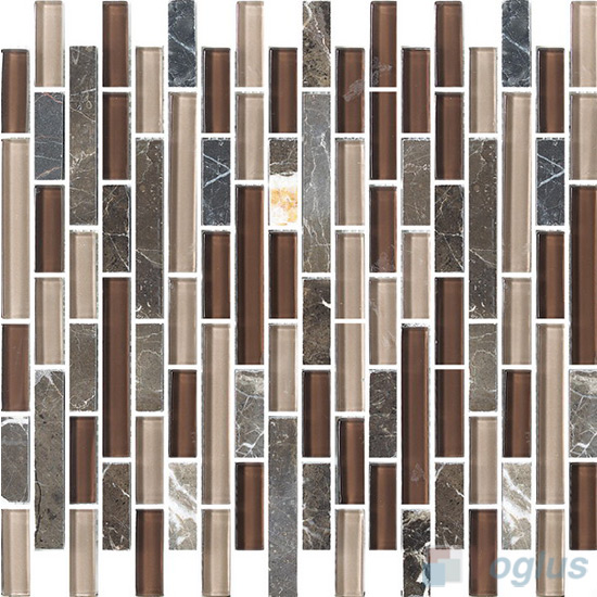 Strip Stone Glass Mosaic Tiles VB-GSN96