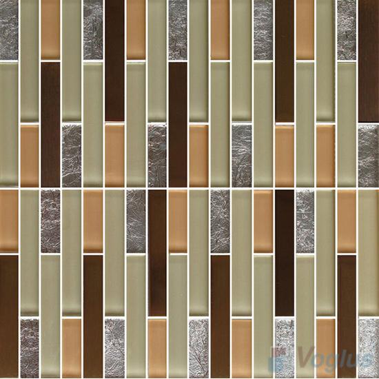 Strip Stone Glass Mosaic Tiles VB-GSN97