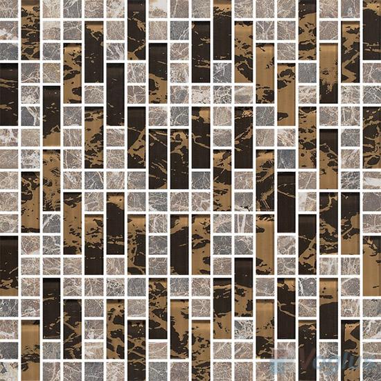 Stroke Glass Stone Mixed Mosaic Tiles VB-GSH86