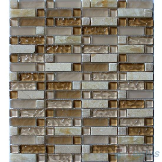 Stroke Glass Stone Mixed Mosaic Tiles VB-GSH98