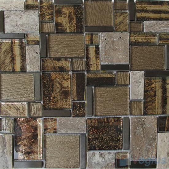 Tiger Listy Magic Miscellaneous Glass Stone Mix Mosaic Tile VB-GST92