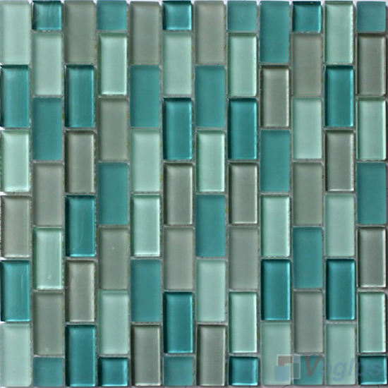 Turquoise Acchor Crystal Glass Mosaic Tiles VG-CYV93