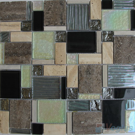 Twilight Magic Miscellaneous Glass Stone Mix Mosaic Tile VB-GST94