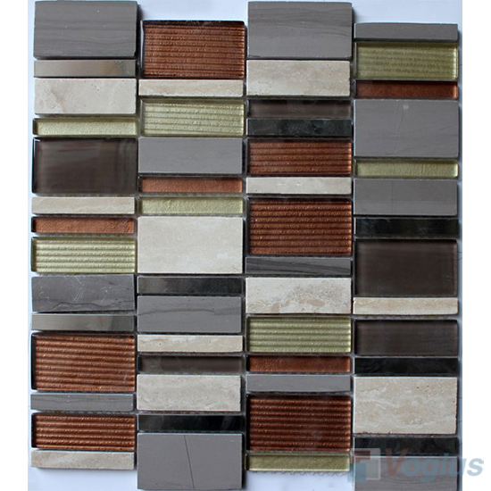 Wind Energy Skyline Stream Tile Glass Stone Mosaic VB-GSV99
