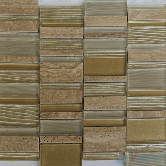 Wood Mood Skyline Stream Tile Glass Stone Mosaic VB-GSV93