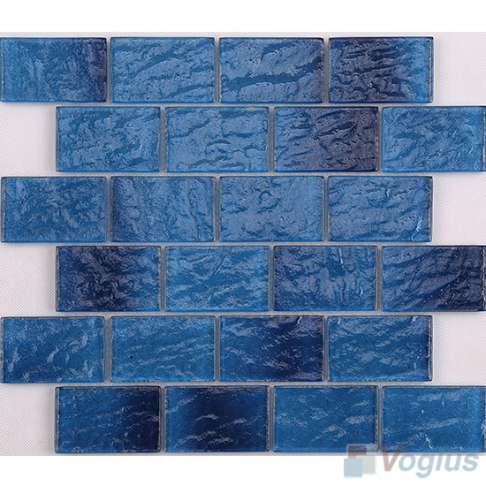 Dark Blue Wall Tiles Glass Brick VG-CYK98