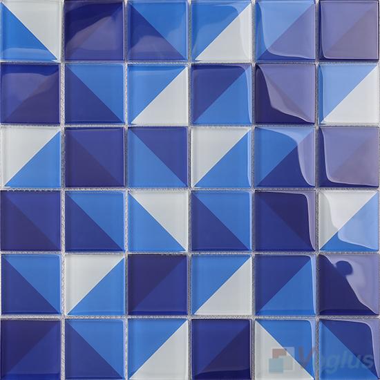 Heritage Blue Back-printed Crystal Mosaic VG-CYH99