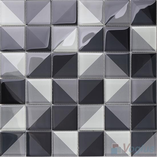 Heritage Gray Back-printed Crystal Mosaic VG-CYH96