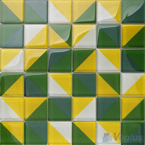 Heritage Green Back-printed Crystal Mosaic VG-CYH98