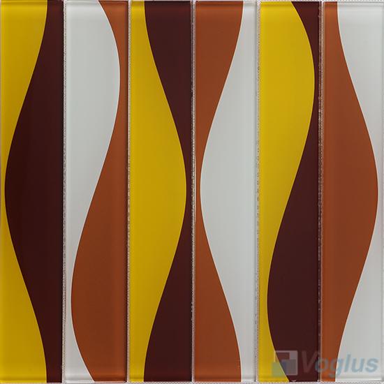 Hip Coffee Back-printed Crystal Glass Tile VG-CYH89