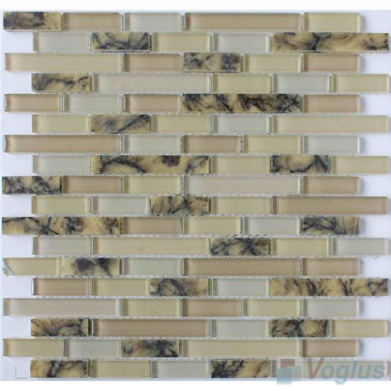 Agate Strip Stone Glass Tiles VB-GSN87