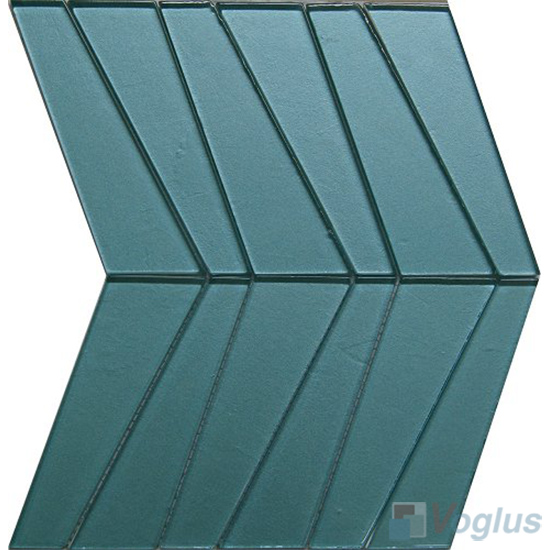 Air Blue Large Trapezia Shape Glass Tiles VG-UTP99