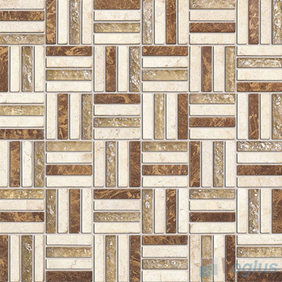 Beige Quartet Glass Stone Mosaic VB-GSJ93