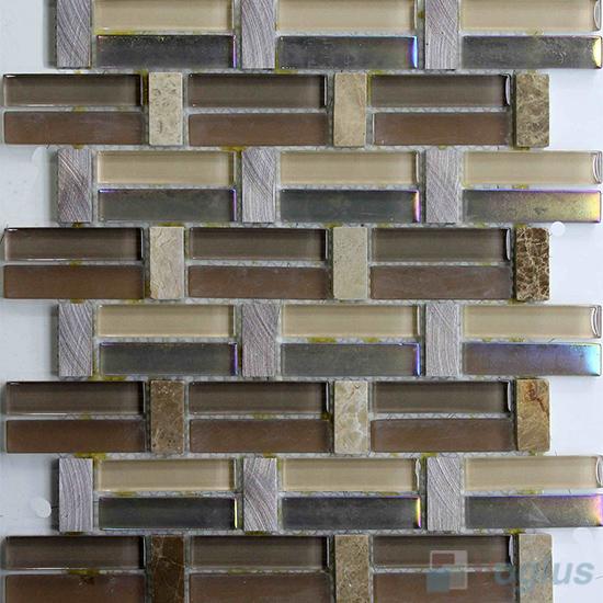 Brown Land Pistol Metal Stone Glass Mosaic VB-GSY98