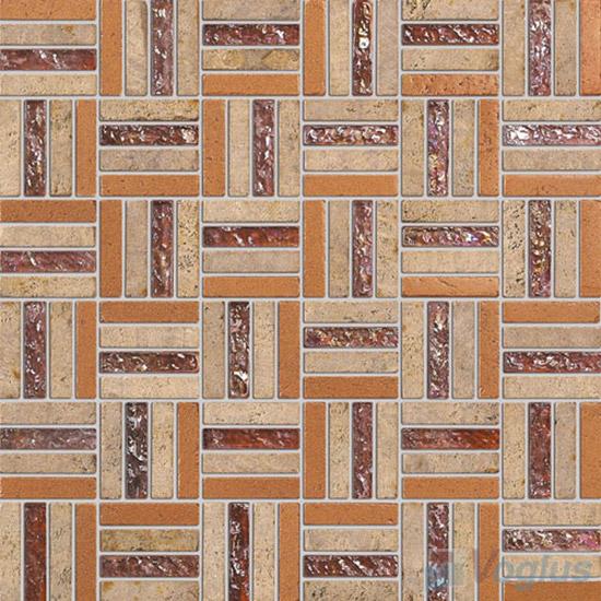 Brown Quartet Glass Stone Mosaic VB-GSJ96