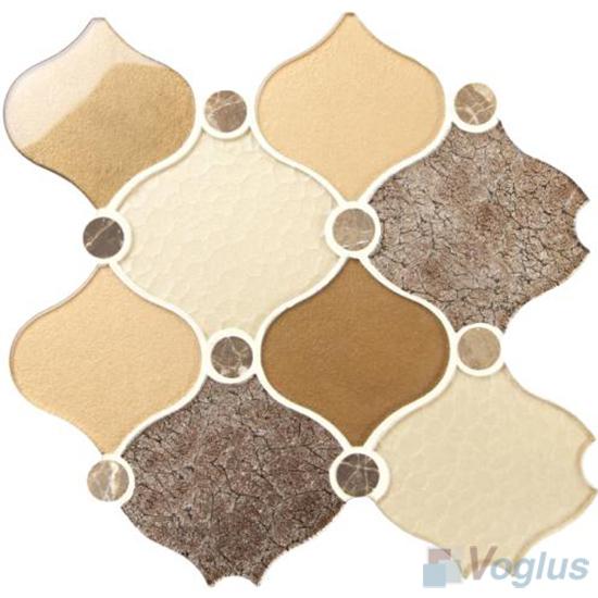 Chinese Large Lantern Shape Glass Mosaic Tiles VG-ULN94