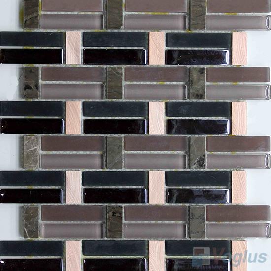 Coffee Pistol Metal Stone Glass Mosaic VB-GSY97