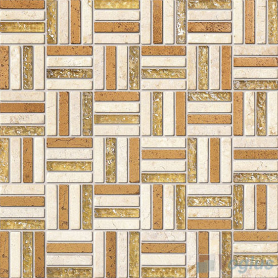Cream Quartet Glass Stone Mosaic VB-GSJ99