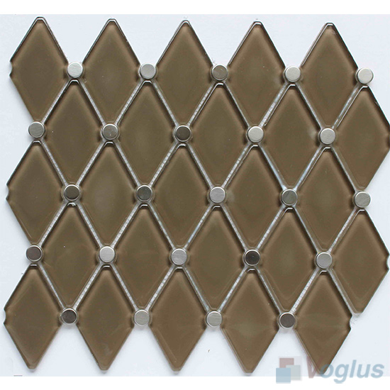 Drab Lantern Shape Water Jet Glass Tile VG-UWJ88