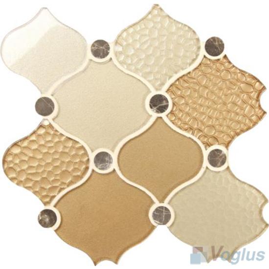 Elegance Large Lantern Shape Glass Mosaic Tiles VG-ULN96